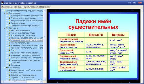 Репетитор русский язык программу